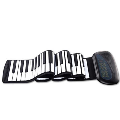 Portable 88 Keys Roll Up Piano Foldable Keyboard Hand-Rolling  Piano【PC:1205007