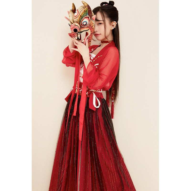 Fairy Womens Costume Traditional Dress Ancient Clothes Hanfu Chinese Tang Sets