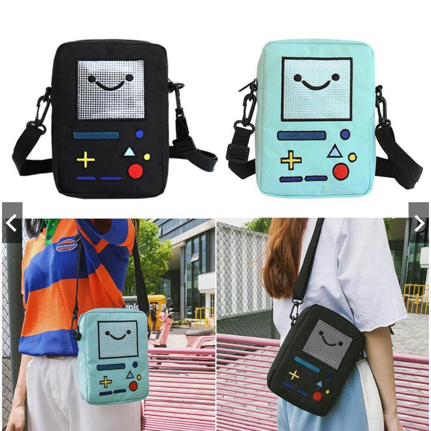 """B-MO New Beemo AT Satchel Shoulder Bookbag Adventure Time 14/"""" Messenger Bag"""