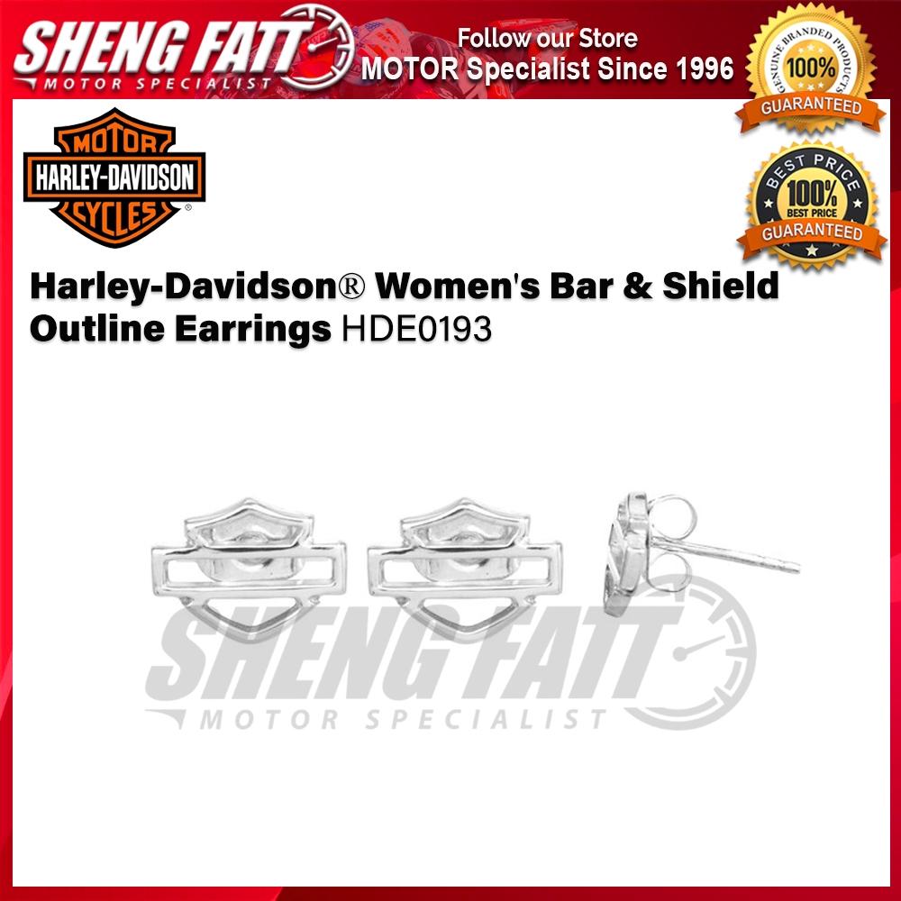 Harley-Davidson® Women's Bar & Shield Outline Earrings HDE0193