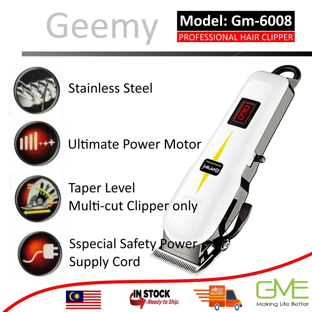 Original Gemei GM-6008 GM 6132 GM-6005  Professional Hair Clipper Trimmer with LED Display