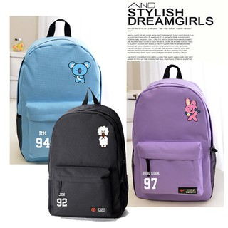 729c89b438e BTS cartoon printing Harajuku style backpack simple large capacity ...