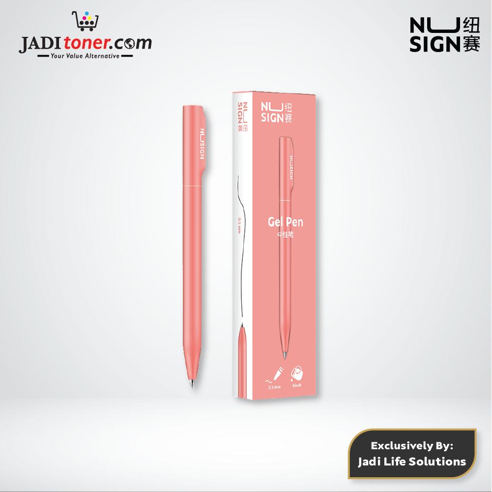 Jadi Nusign Rose Pink Rotary Gel Pen 0.5mm NS552