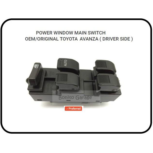 POWER WINDOW MAIN SWITCH OEM/ORIGINAL TOYOTA AVANZA ( DRIVER SIDE )