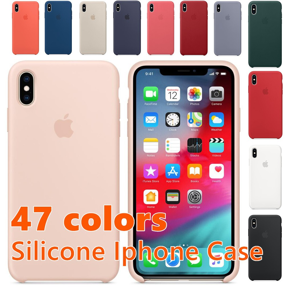 lowest price 87179 85e17 ReadyStock Iphone Case Silicone Original Liquid Case 47 colors in Iphone  Cover