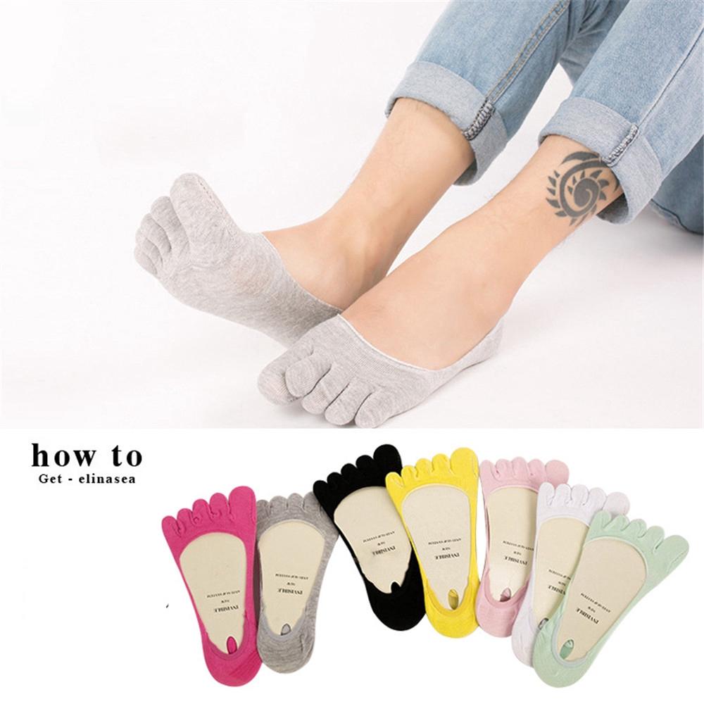 Women Breathable Lightweight Toe Socks