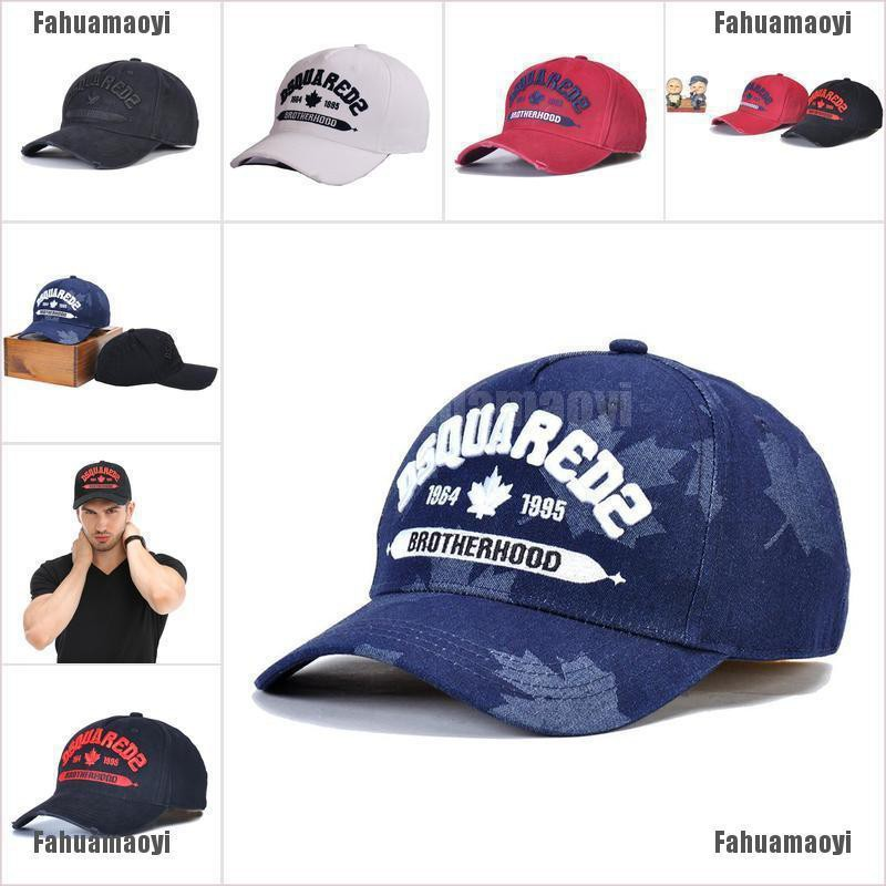 LATEST DSQUARED2 CAP ICON DSQICOND2 BLACK CAPS BRAND SNAPBACKS BASEBALL CAP HAT