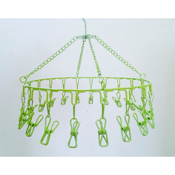 Circular Clothes Hanger With Clips Windproof Clothes Hanger Outdoor Clothes Hanger Drying Laundry Hanger