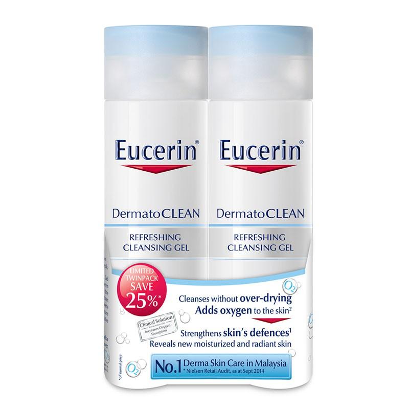 Eucerin DermatoCLEANn Gel (2 x 200ml) [Twin Pack Basic@25% Off]