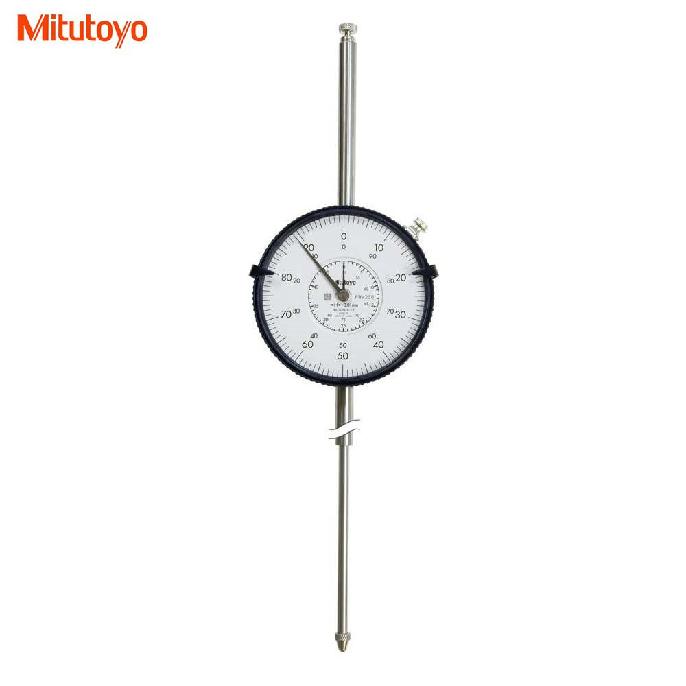 Mitutoyo 3062S-19 Dial Indicator, 100mm Max, 0.01mm Resolution, 3.2N Max Force