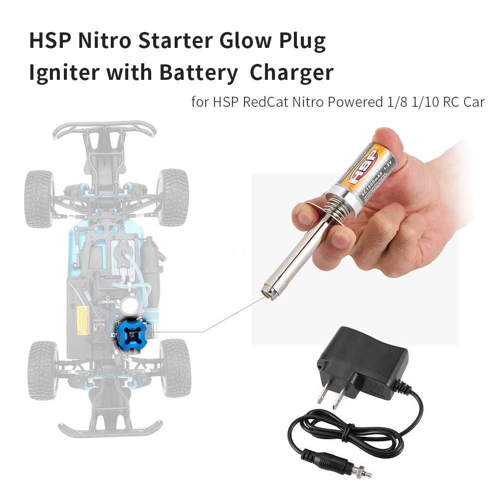 Upgrade Glow Plug Igniter 80103 for HSP RC 1//10 Nitro Car Engines Part Tools US