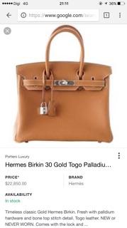 b0acf678ef6 ... Hermes Birkin 30 Gold Togo. like  4