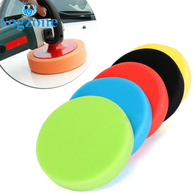 4x 3//4//5//6//7/'/' Buffing Polishing Waxing Sponge Pad Kit Set Tool For Car Polisher