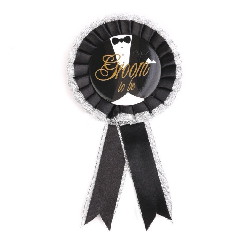 White Badge Rosette Bridal Hen Night Party Accessory Shower Stag