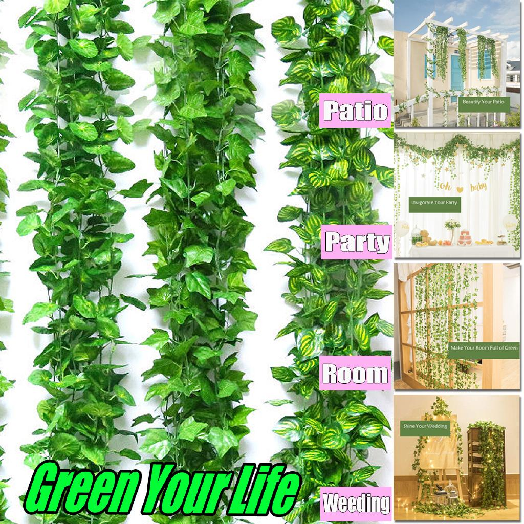 Home Decor Home, Furniture & DIY Artificial Trailing Ivy Vine Leaf Ferns Greenery Garland Plants Foliage Flowers