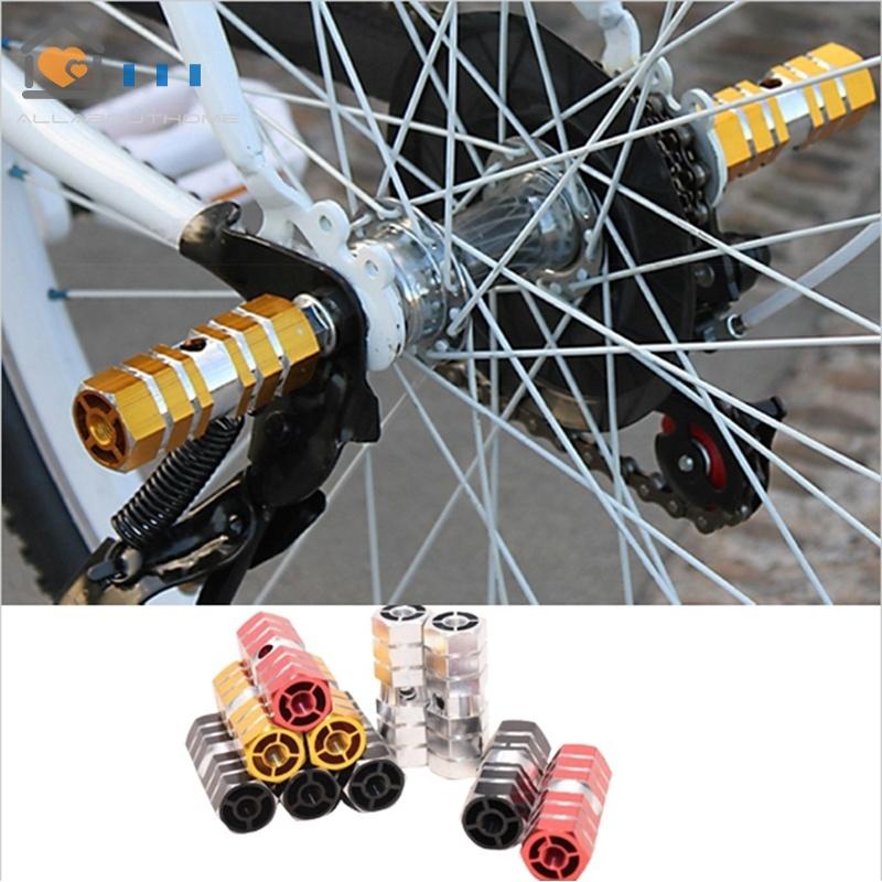 2PCS Bike Pedals Aluminum Alloy Axles BMX Pedal Bicycle Stunt Foot Peg N Bs