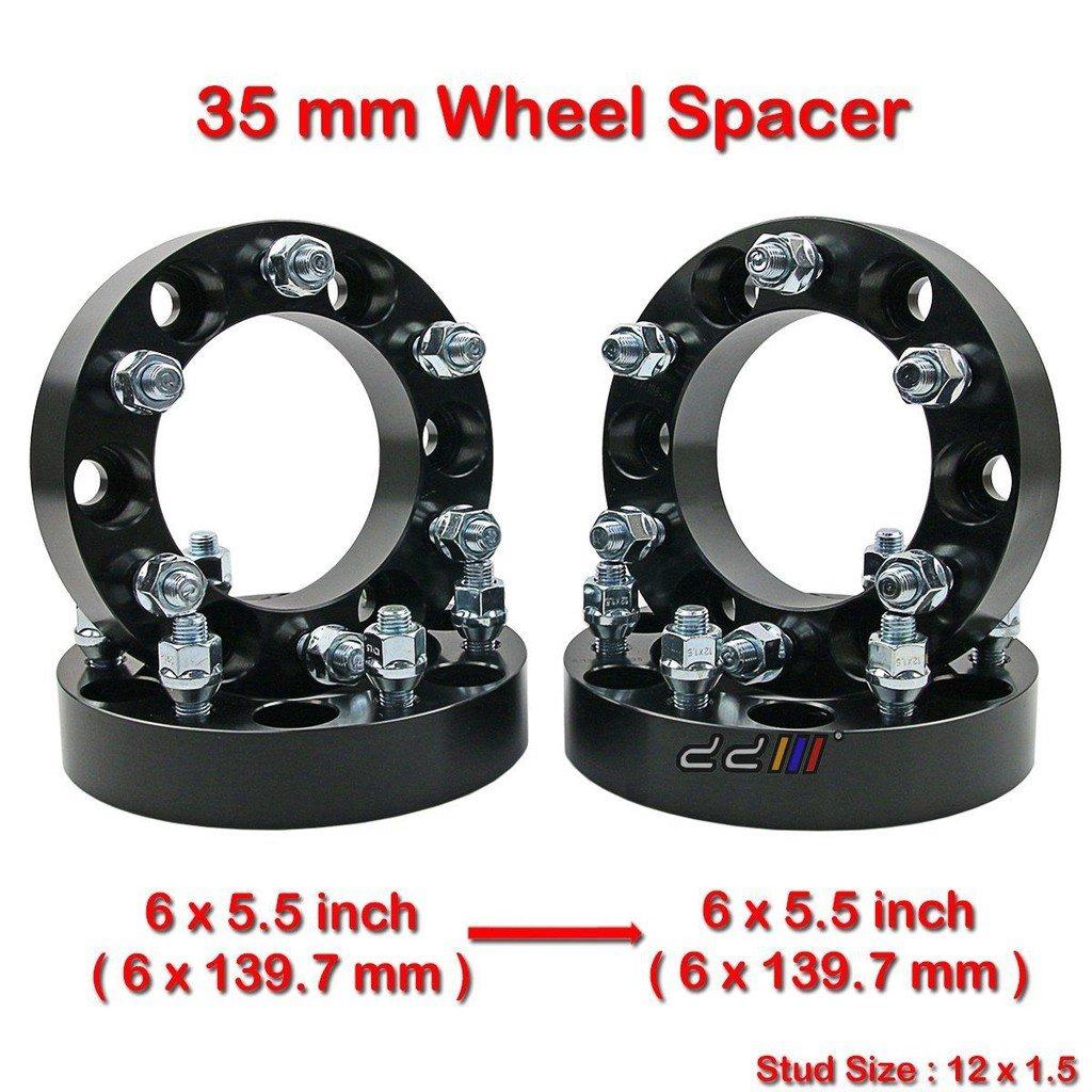 "4x 1.5/""  6x5.5 Wheel Spacer Adapter 38mm 12x1.5 rim Studs 6 lug billet 6x139.7"