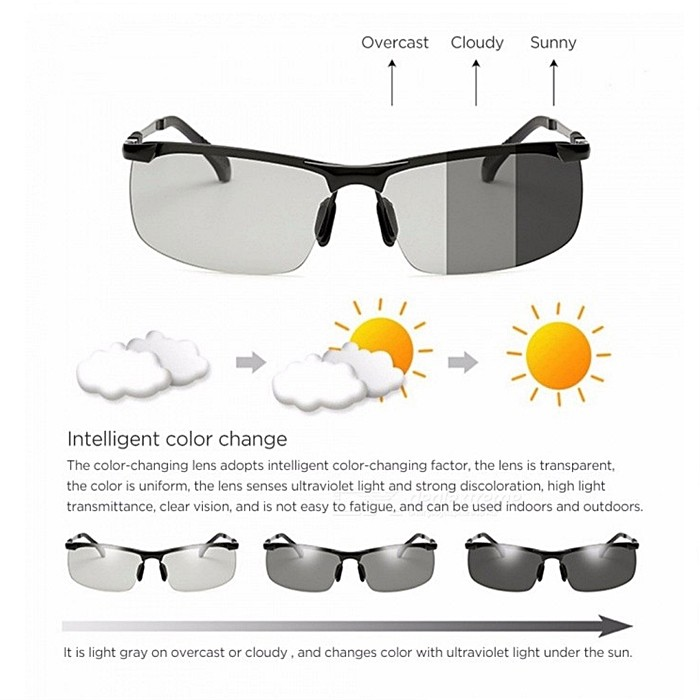 MALAYSIA: CERMIN MATA SIANG MALAM /New Arrivals Black Top Quality Color Changing HD Polarized Sunglasses