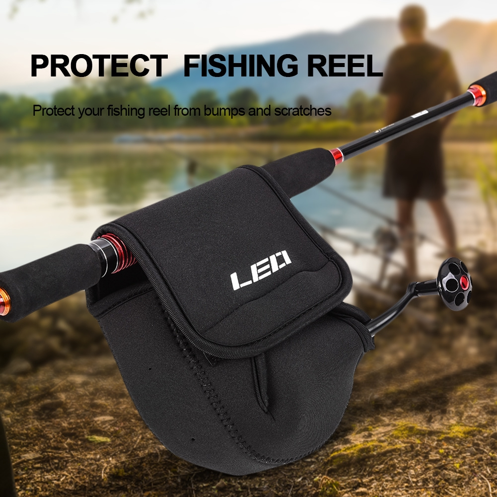 2Pcs Fishing Reel Cover Spinning Reel Bags Package Protective Case Storage