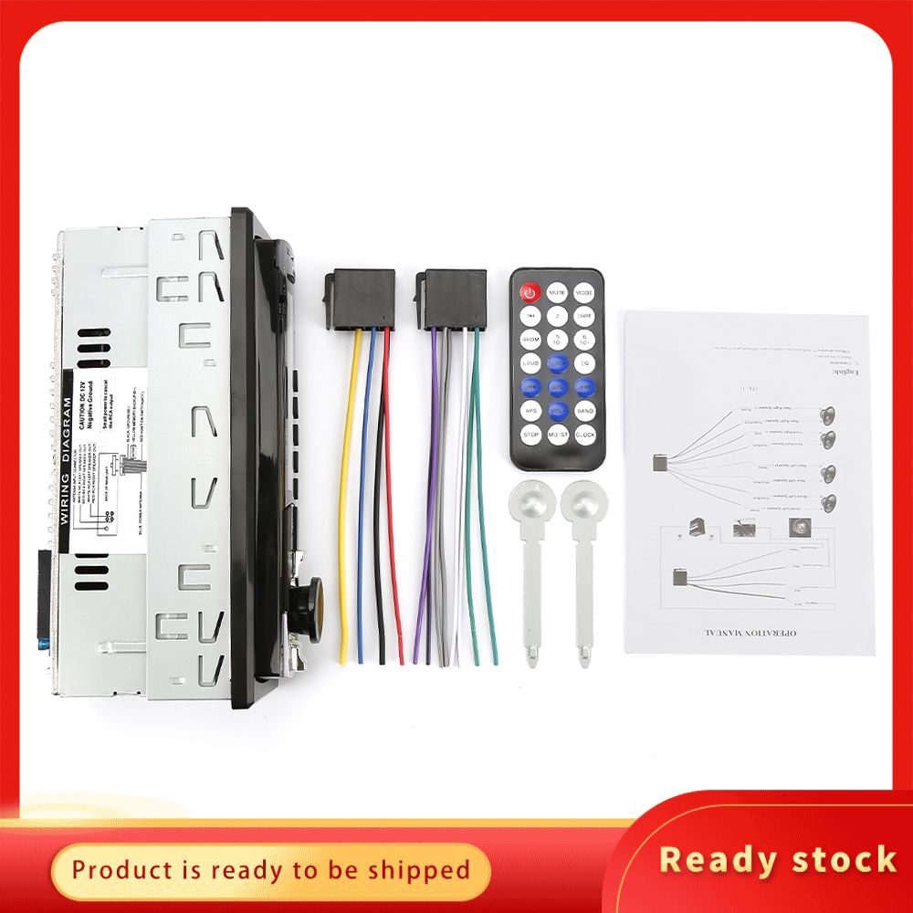 12V Fm Car Stereo Radio Bluetooth 1 Din In Dash Wiring Diagram from cf.shopee.com.my