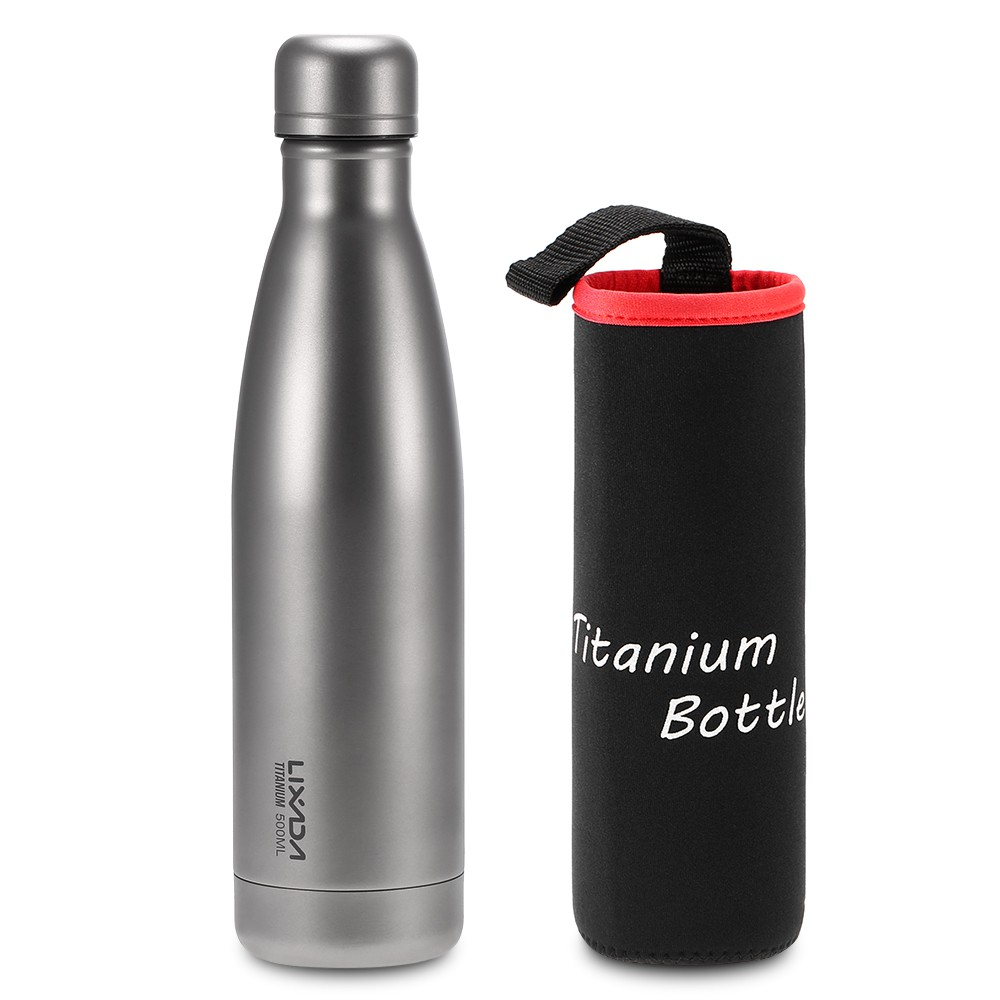 9ad8283ccf44 Lixada 500ml Titanium Water Bottle Double Walled Vacuum Insulated Sports  Water