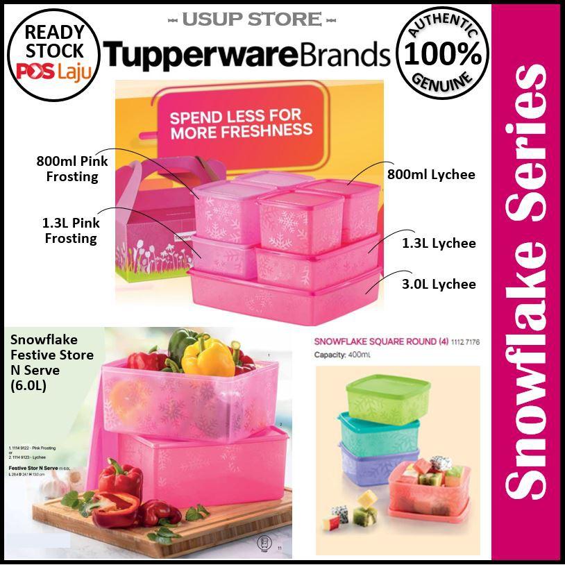 Tupperware Snowflake Square Round / Festive Store N Serve
