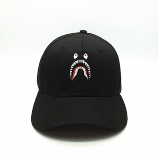 BAPE A BATHING APE Hat Embroidery Shark Jaw Monkey Head Baseball Men Women Cap