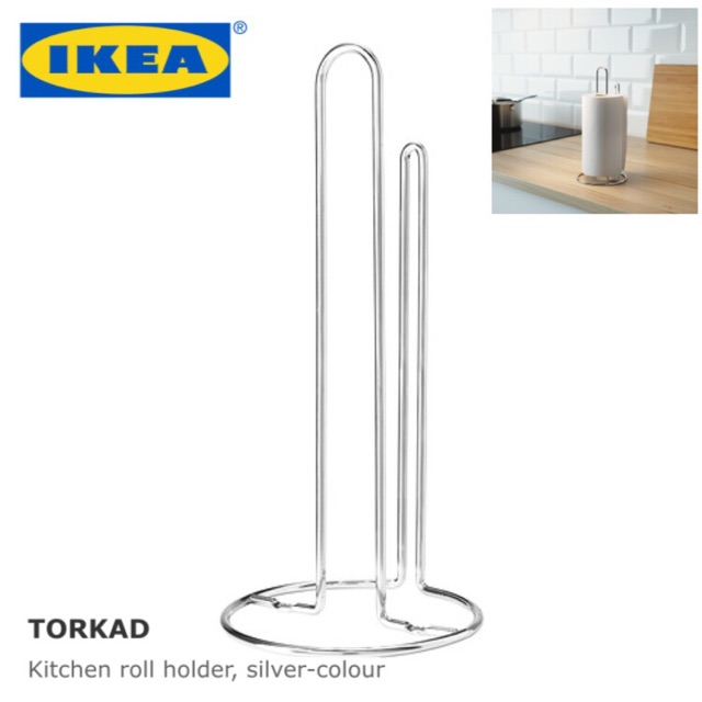 Ready Stock Ikea Torkad Kitchen Roll Holder Silver Colour Sho Malaysia