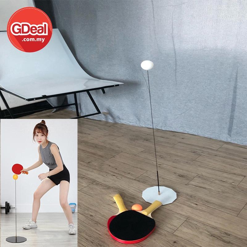 GDeal 5 Balls Elastic Soft Shaft Table Tennis Trainer Single Player Ping Pong Children Beginner