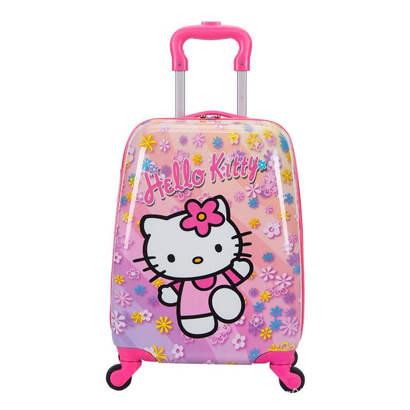 7c83f4bb01bc Children's Trolley Bag 16 Inch Double Rod Universal Wheel Cartoon Suitcase