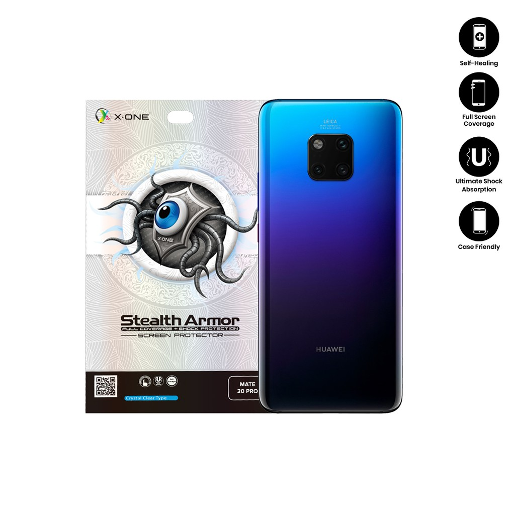 Huawei Mate 20 Pro X-One Stealth Armor Back Glass Protector
