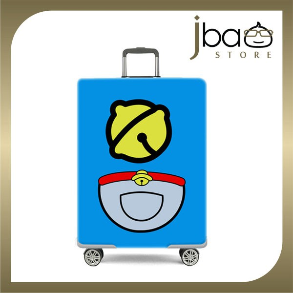 D.Beaner Elastic Travel Luggage Suitcase Protector Cover Doraemon Bell