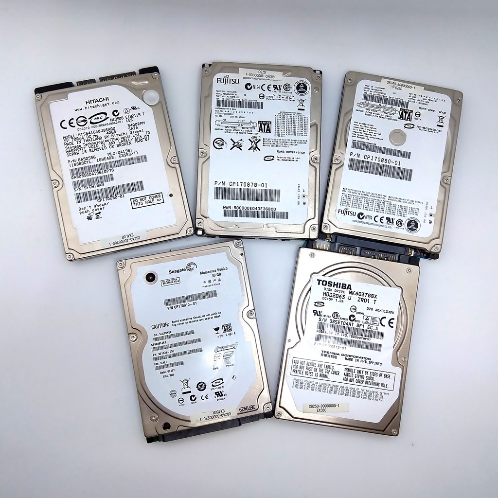 Assorted laptop HDD Hard Disk Drive fully tested 40 60 80 100 160 200 500  GB 1TB