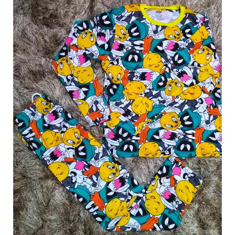 ^OFFER^ Pyjamas Sedondon Untuk Kanak-Kanak Dan Dewasa 100% Cotton