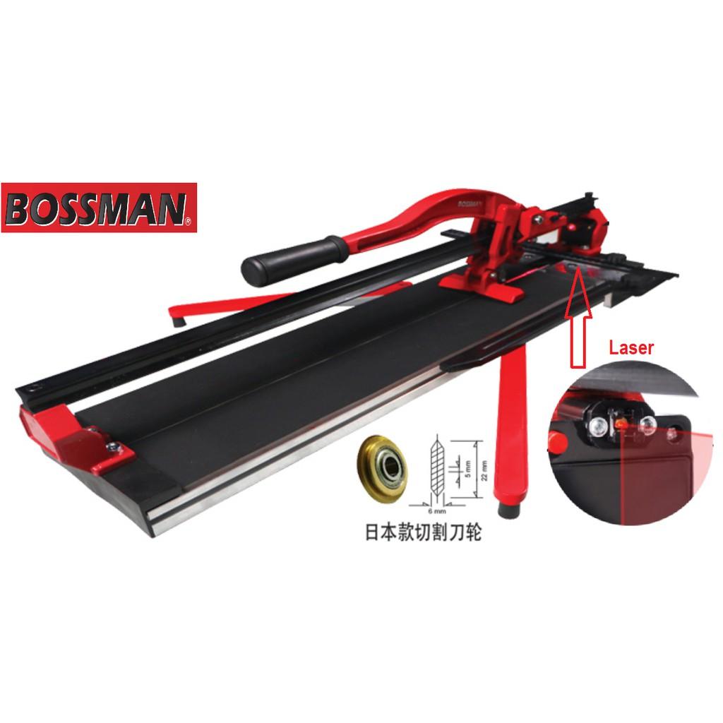 BOSSMAN BLC3800 Laser Manual Tile Cutter 800MM Scoring Wheel W Single Rail