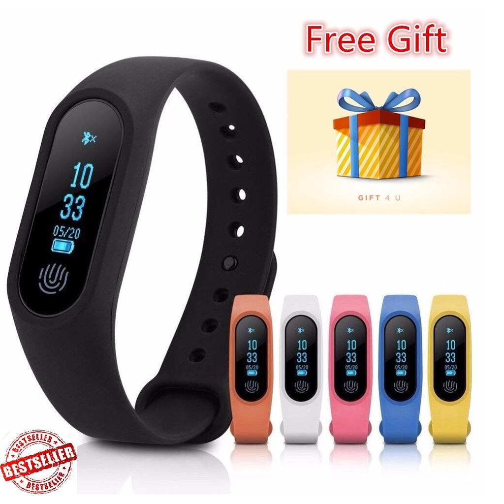 (Free Strap)M2 Smart Sports Wristband Watch Fitness Heart Rate Monitor