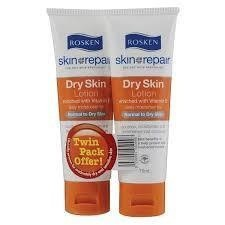 Rosken Skin Repair Dry Skin Lotion 75Ml X 2