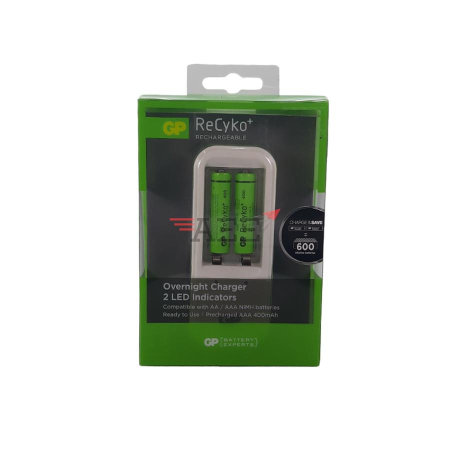 GP PB410 Charger include 2pcs AAA Recyko+ 400mAh