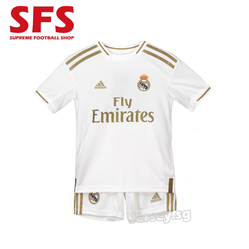 new concept 1b0fd 6a552 Top Quality Real Madrid Home Football Jersey Soccer Tshit Kids Kit 19/20