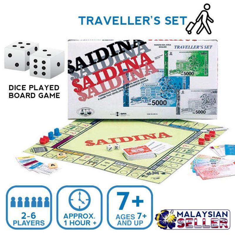 Saidina Traveller Bahasa Malaysia/English Version Boardgame