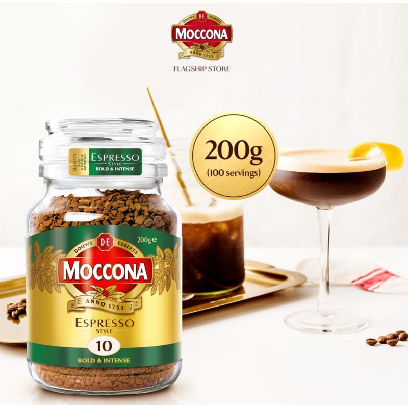 100 MOCCONA NL  EXPRESSO Bold & Intense Roast 10 Freeze Dried Instant Coffee - 200g