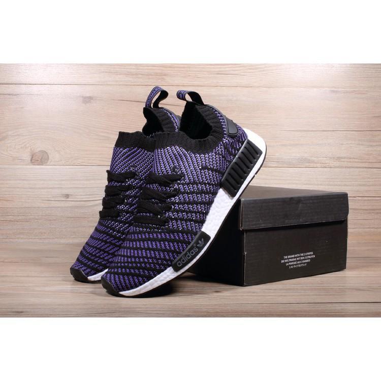 199b93113 Adidas nmd menjalankan kasut r1 biru dan hitam Ready Stock penghantaran  cepat