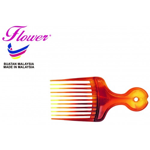 Flower Brush Salon Double Colour Afro Comb Hair Styling Made in Malaysia (Sikat/Berus Rambut/Balung/Sisir)