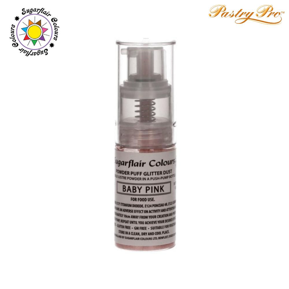 Sugarflair, Pump Spray Glitter Dust Powder, Baby Pink