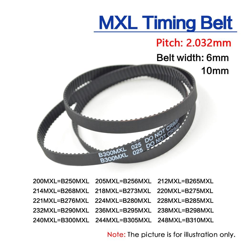 B298MXL Timing Belt 1//8 Width 238MXL