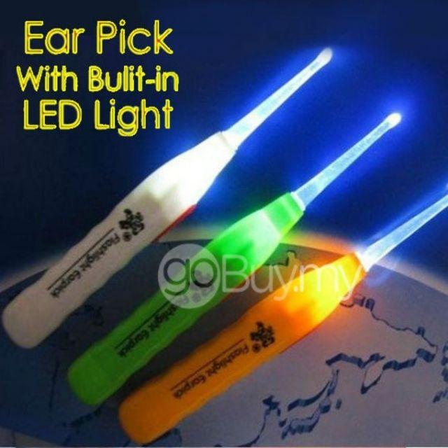 3pcs Pengorek Telinga Berlampu LED Earpick Flashlight