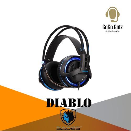 {SD-DIABLO-BLUE} Sades Diablo PC Gaming Headset - PS4/ PS5,XBOX,NS,PC,Mobile (Blue)