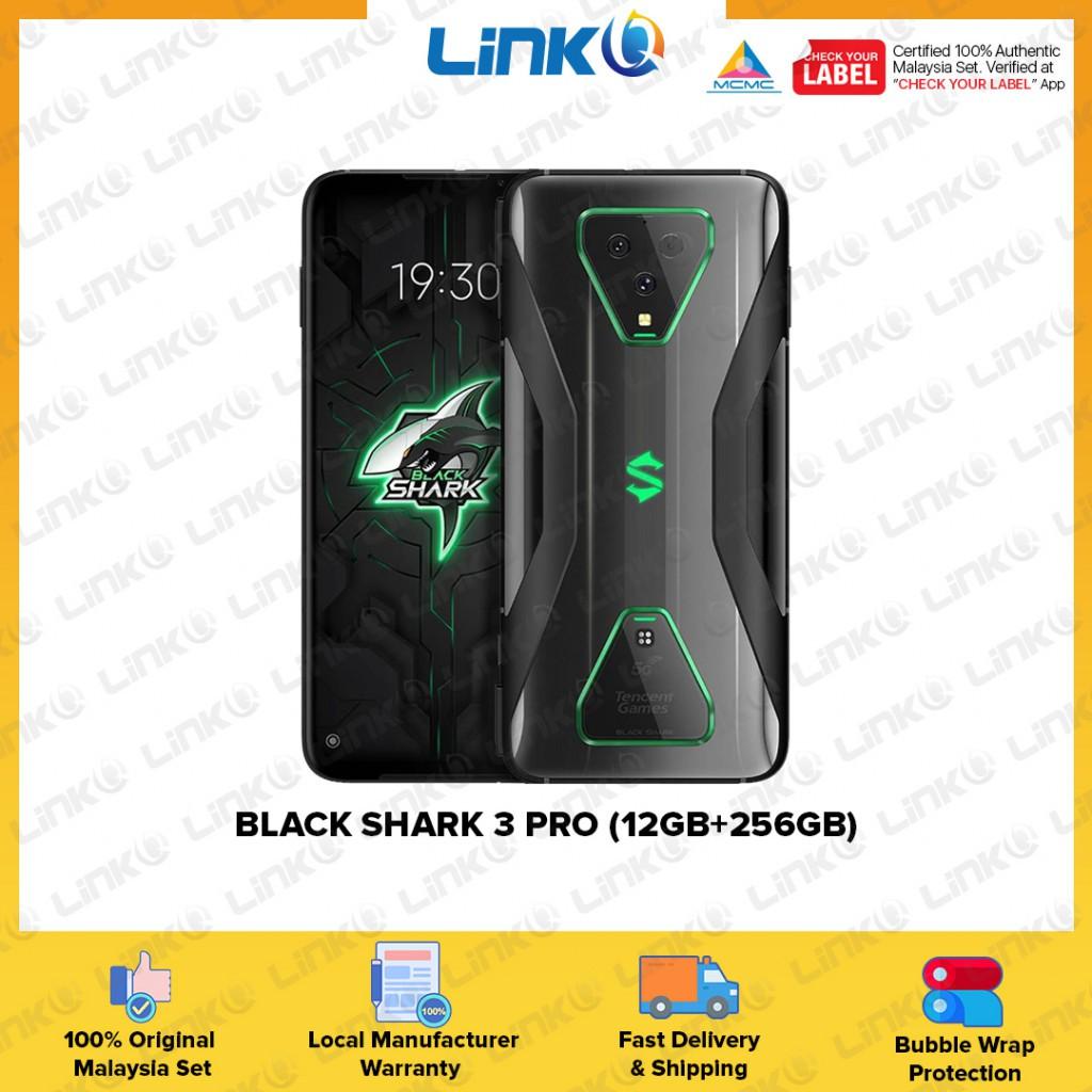 Black Shark 3 Pro 5G (12GB RAM + 256GB ROM) Smartphone - Original 1 Year Warranty by Black Shark Malaysia (MY SET)