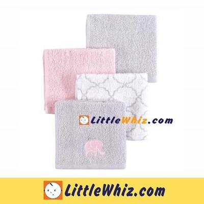 Hudson Baby: Washcloths Woven Terry - 4pcs (57231)