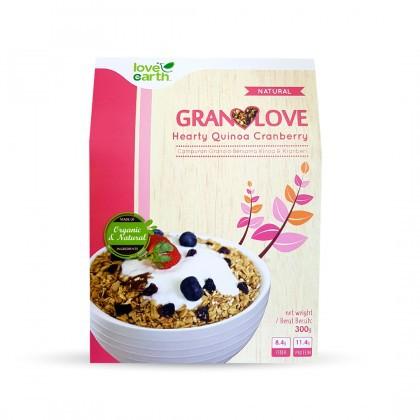 Love Earth Hearty Quinoa Cranberry Granolove 300g Granolove 小小米蔓越莓格兰诺拉 300公克 (盒装)